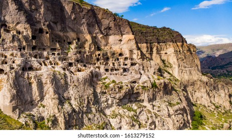 Vardzia Monastery located in the mountains of Georgia