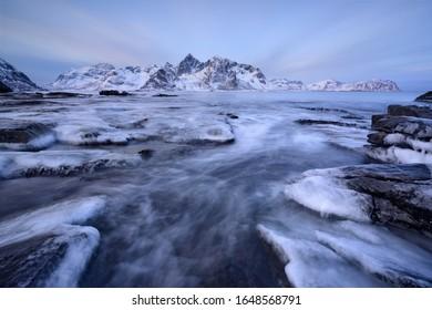 Vareid Beach in Winter, Lofoten islands