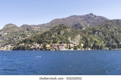 Varenna, Italy: Country of Varenna typical for the different colors of the houses.