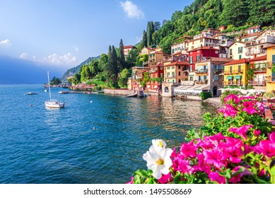 Varenna, Lake Como - Holidays in Italy view of the most beautiful lake in Italy, Lago di Como.