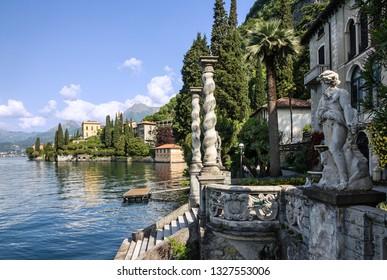 Varenna town, villa Monastero, Como lake, Italy, Lombardy.