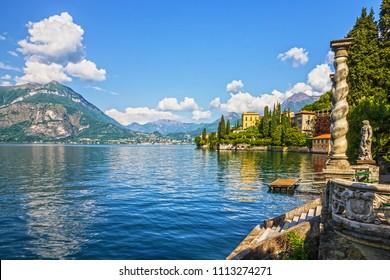 Varenna Villa Monastero landscape, Como lake, Italy