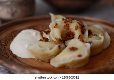 Varenyki Ukranian Ukrain Food Foodphoto  - Shutterstock ID 1209505312