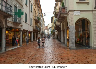 VARESE, ITALY - APRIL 2013; Center of Varese city, Italy