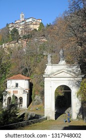 Varese, Italy february 20,2019 - Sacro Monte in Varese is a pilmigrimage religion site , heritage unesco