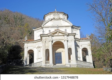 Varese, Italy february 20,2019 - Sacro Monte in Varese is a pilgrimage religion site , heritage unesco
