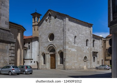 Varese, Italy, July 9, 2014: Church of St John the Baptist, Varese Old Town, Italy.