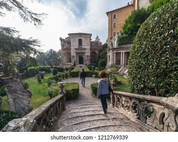 Varese OCT 2018 ITALY - villa in the square of arrival of the sacred mountain of Varese, Italy.