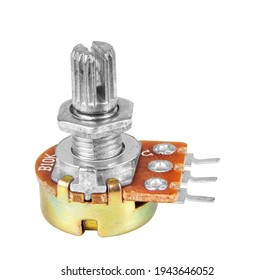 Variable resistor isolated on white background