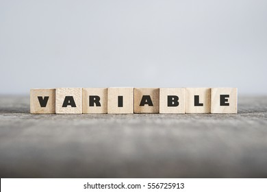 VARIABLE word made with building blocks