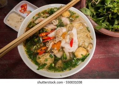 A variant of the typical vietnamese soup Pho Bo