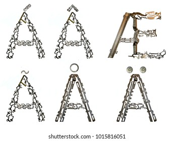 """variants of letter """"A"""" isolated on white"""