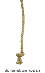 Variants of the rope with node on white background