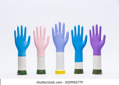 Variation of Latex Glove, Surgery, Colorful Rubber glove