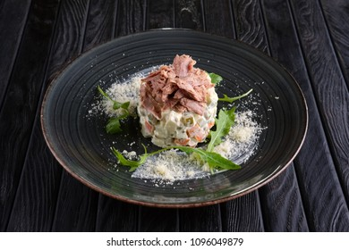 Variation of olivier salad