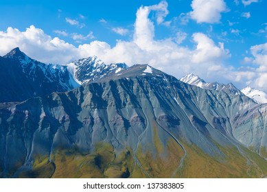varicolored mountains