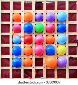 varicoloured balls