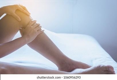 Varicose veins on the woman leg or foot,Body and health care concept,Selective focus