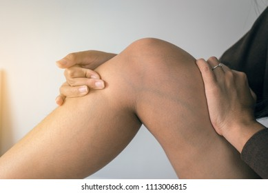 Varicose veins on the womans leg or foot,Body and health care concept,Selective focus