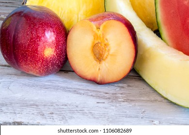 Varied fresh fruit on a table