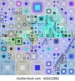Varied Size Squares Mosaic Pattern