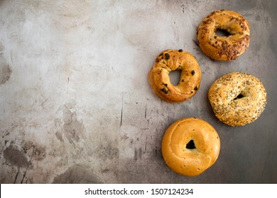 A Variety of Bagels with Room for Copy