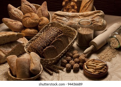 Variety of Baked Bread
