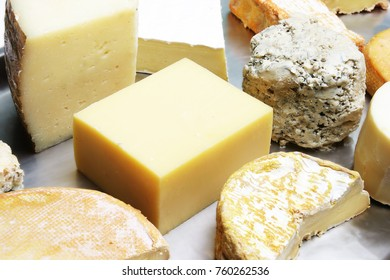 variety of a cheese board