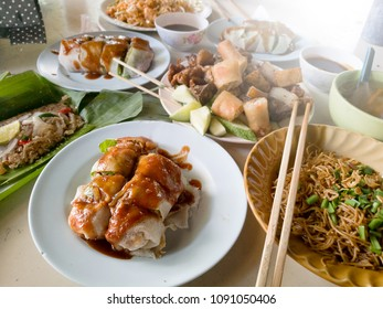 Variety of chinese local food