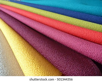 a variety of choice of colorful fabrics