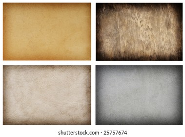 variety collection of grunge texture backgrounds