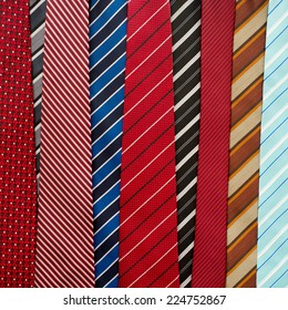 Variety of colorful neckties