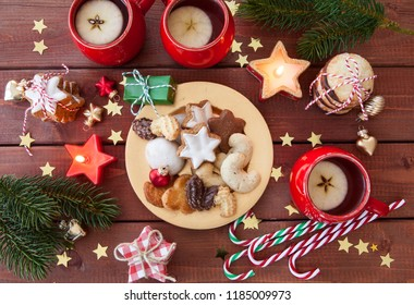 Variety of cookies and treats for a merry christmas
