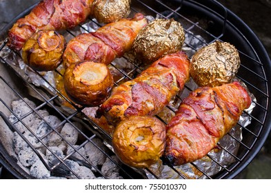 Variety of dishes on the BBQ