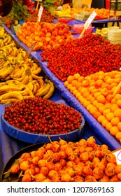 Variety of fresh fruit  in  Canakkale, Turkey