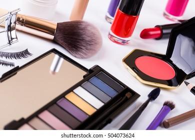 variety of makeup cosmetics