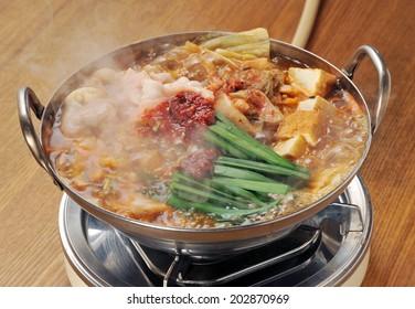 variety meat hot pot, motsunabe, japanese cuisine-4