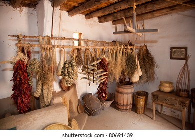 Variety of Plants Air Drying