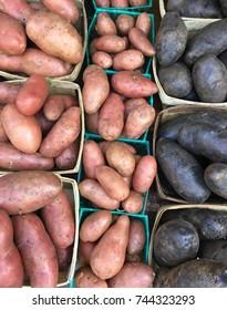 Variety of Potatoes at Farmers' Market
