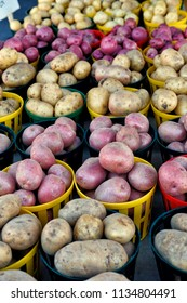 Variety Of Potatoes for sale at outdoo market