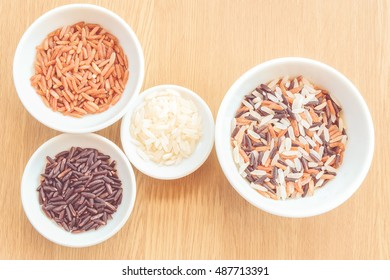 variety rice with vintage color concept