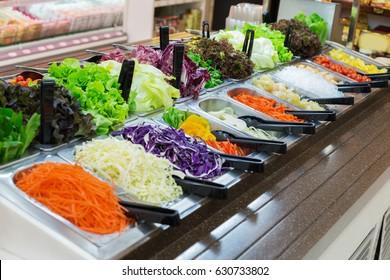 Variety of salads.