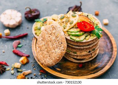 variety of sandwiches with different fillings - Shutterstock ID 730152130