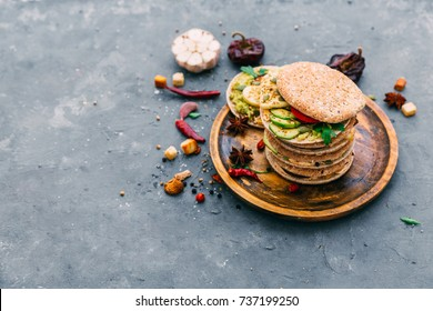 variety of sandwiches with different fillings - Shutterstock ID 737199250