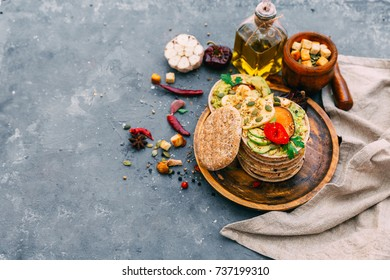 variety of sandwiches with different fillings - Shutterstock ID 737199310