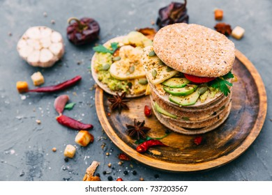 variety of sandwiches with different fillings - Shutterstock ID 737203567