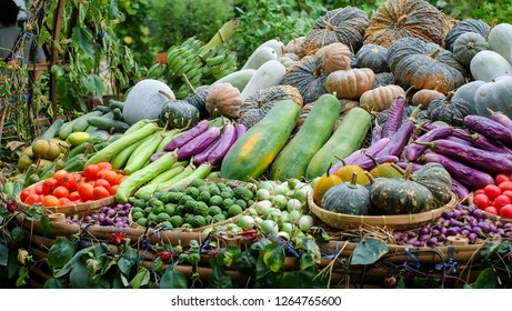 Variety Thai vegetables and fruits