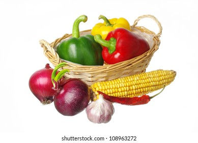 Variety of vegetables and corn