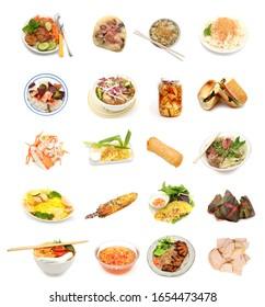 Variété de la collection de cuisine vietnamienne