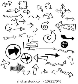 various arrows drawn in doodled style